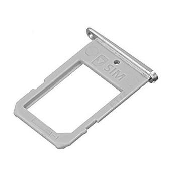 For Samsung Galaxy S6 Edge Sim Tray silver