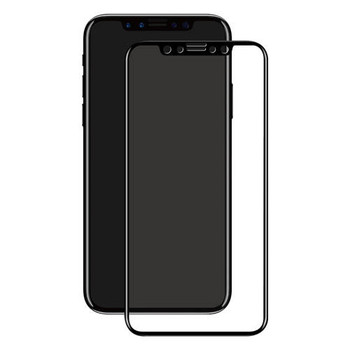 For iPhone X 3D black Tempered Glass