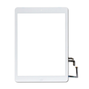 For iPad Air / 5th Gen Touch Screen With Home Button and Adhesive Tape (White)