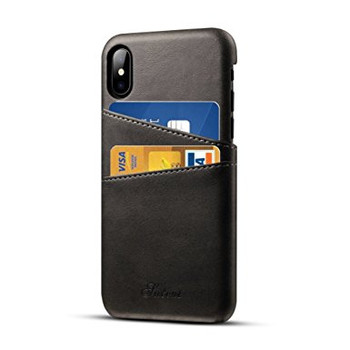 For iPhone X Happy Bumper With Card Case