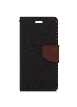 For iPhone 4/4S Mercury Canvas Diary Case Black