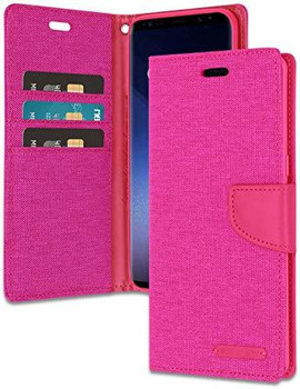 For Samsung Galaxy S9 Mercury Canvas Diary Pink