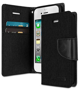 iPhone 4/4S Canvas diary black