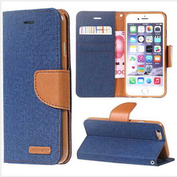 For iPhone 4/4S Mercury Canvas Diary Blue