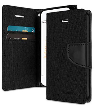For iPhone 5/5S Canvas Diary Black