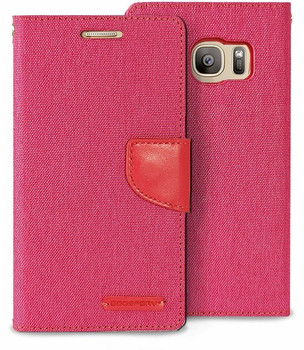 For Samsung Galaxy S5 Mercury Canvas Diary Pink