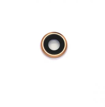 For iPhone 8 / SE 2020 Compatible Camera Lens With Bracket (Rose Gold)