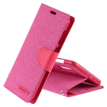 For Samsung Galaxy S8 Plus Mercury Canvas Diary Case Pink