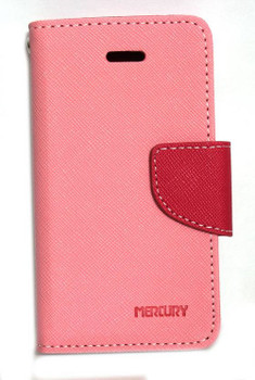 For Sony Z3 Mercury Canvas Diary Pink