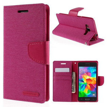 For Samsung Galaxy  A5 (2017) SM-A520F Mercury Canvas Diary Case Pink