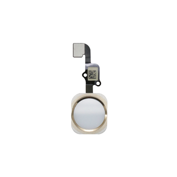 For iPhone 6 Home Button White With Gold Ring