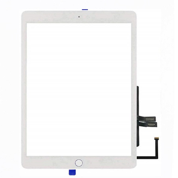 For iPad 2018 (6th Gen) Touch Screen With Home Button and Adhesive Tape (White)