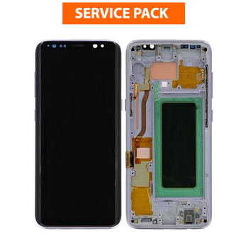 For Samsung Galaxy S8 Service Pack LCD and Touch Screen Assembly With Frame (Orchid Grey)