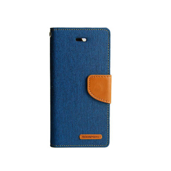 For iPhone XS Max Mercury Canvas Diary Blue