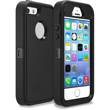 For iPhone 5/5s Outer Defender Black