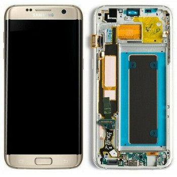 For Samsung Galaxy S7 Edge Refurb LCD and Touch Screen Assembly (Gold)