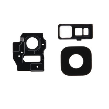 For Samsung Galaxy S8 Back Camera Lens With Frame Black