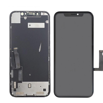 For iPhone XR LCD and Touch Screen Assembly With Metal Plate (Black)