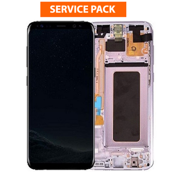 For Samsung Galaxy S8 Plus Service Pack LCD and Touch Screen Assembly With Frame (Purple)