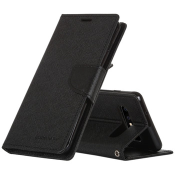 For Samsung Galaxy S10 Mercury Fancy Diary Case Black