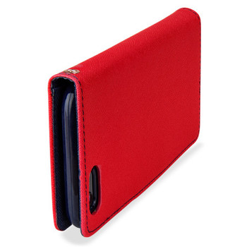 For Samsung Galaxy S10 Plus Mercury Fancy Diary Case Red
