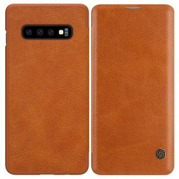 For Samsung Galaxy S10 Leather Case Brown