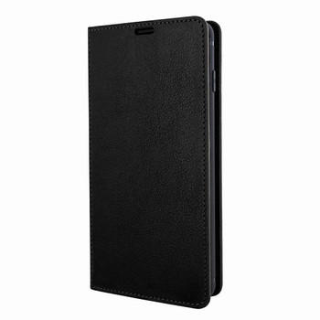 For Samsung Galaxy S10 Plus Leather Case Black