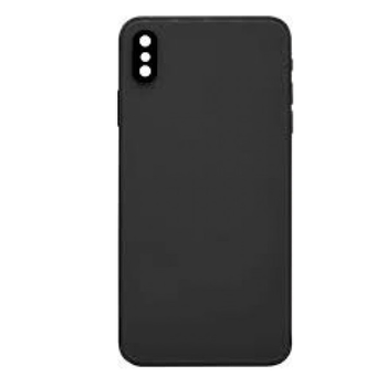 For iPhone XS Back Cover Black