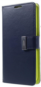 For Samsung Galaxy  S5 Rich Diary Case Blue