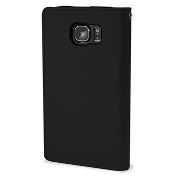 For Samsung Galaxy S6 Rich Diary Case Black