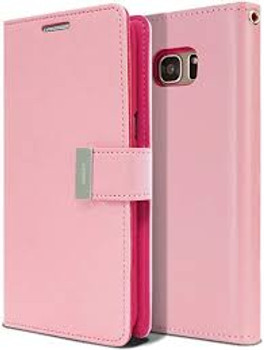 For Samsung Galaxy S7 Edge Rich Diary Case Pink