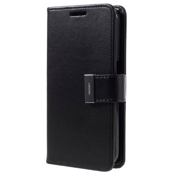 For Samsung Galaxy S7 Rich Diary Case Black