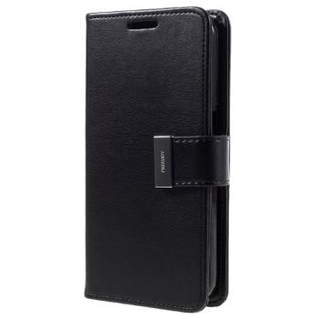 For  Samsung Galaxy S8 Plus Rich Diary Case Black