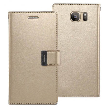 For  Samsung Galaxy S8 Plus Rich Diary Case Gold