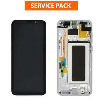 For Samsung Galaxy S8 Plus Service Pack LCD and Touch Screen Assembly With Frame (Grey)