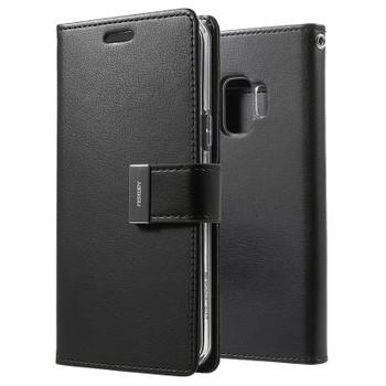 For Samsung Galaxy S9 Rich Diary Black