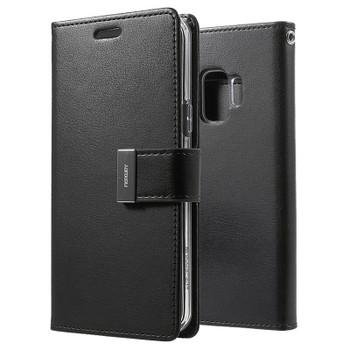 For Samsung Galaxy S9 Plus Rich Diary Case Black