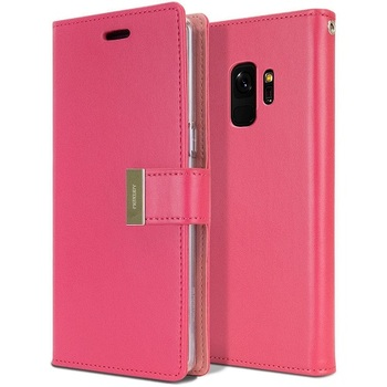 For Samsung Galaxy S9 Plus Rich Diary Case Pink