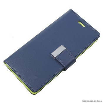 For Samsung Galaxy S9 Plus Rich Diary Case Blue