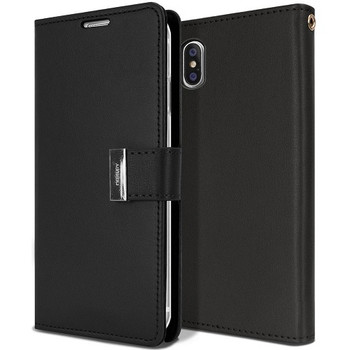 For iPhone X / XS Rich Diary Case Black