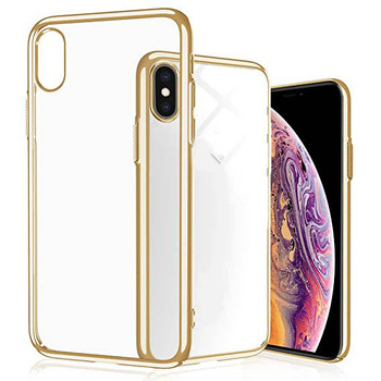 For iPhone X/XS Skinny Bumper Case Gold