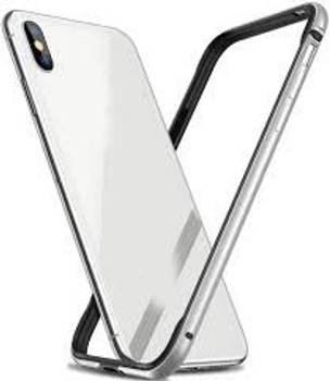 For iPhone X/XS Skinny Bumper Case Silver