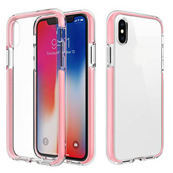 For iPhone X/XS Skinny Bumper Case Pink
