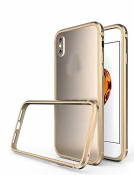 For iPhone XS Max Skinny Bumper Case Gold