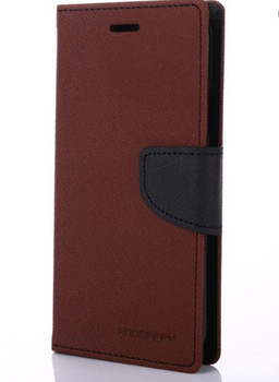 For iPhone XS Max Mercury Fancy Diary Case Brown