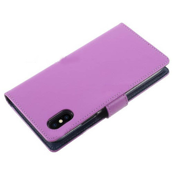 For iPhone X / XS Rich Diary Case Purple