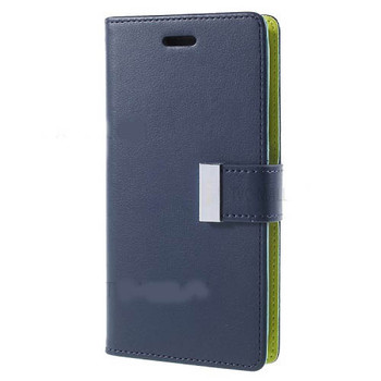 For iPhone X / XS Rich Diary Case Blue