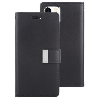 For iPhone 11 Pro Max Rich Diary Case Black