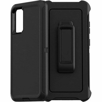 For Samsung Galaxy S20 Plus Outer Defender Case Black