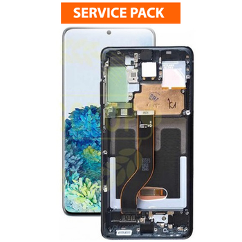 For Samsung Galaxy S20 / S20 5G Service Pack LCD and Touch Screen Assembly (Black)
